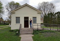 One-room frame schoolhouse, typical of a midwestern Farm community