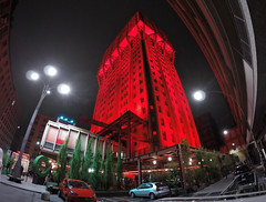 Red Version (RossoGialloBianco) Tags: torre milano led luci grattacielo palazzo rosso notte velasca gopro