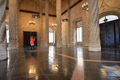 Llotja de la Seda, Ingeborg photographing (Thomas Roland) Tags: old city travel espaa building valencia by architecture buildings de la spain nikon europa europe gothic silk style tourist stadt mainhall seda exchange lonja spanien attraction arkitektur valncia brs llotja valencian d7000 saladecontratacion silkebrsen