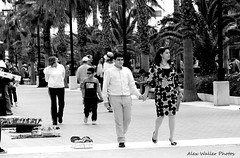 Sunday Stroll (Alex88 (All Images Taken By Me)) Tags: people urban bw valencia monochrome spain