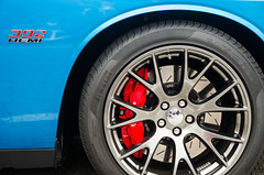 B5 Blue 392 (GmanViz) Tags: color detail car wheel nikon automobile tire fender badge dodge brake disc challenger caliper srt8 gmanviz d7000