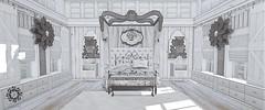 Dreaming in Black & White (Luna Jubilee / !bang poses) Tags: monochrome bedroom interiors secondlife decor pilot floorplan dustbunny mudhoney thehive zerkalo pixelmode lindini applefall kalopsia