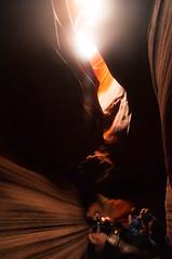 Upper Antelope Canyon Grainy Dec 27 2015 Bear Formation-3441 (houstonryan) Tags: arizona art nature print lens landscape photography utah carved nikon sandstone photographer ryan cut nation houston az canyon tokina erosion upper photograph page antelope navajo redrock slot narrow flashflood 1118mm d300s houstonryan hosutonryan pohtograph