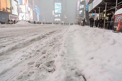 Blizzard 2016 in New York City (mikewaterhouse) Tags: city nyc newyorkcity winter snow newyork weather manhattan snowstorm january timessquare blizzard winterstorm blizzardof2016 2016blizzard