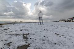 Snowflake #3 (Giulio Gigante) Tags: snowflake sea sky sun selfportrait cold beach me colors clouds self myself nikon marine nuvole mare ghost tokina cielo neve sole freddo spiaggia giulio fiocco selfie eccoqua d5100 giuliogigante giuliogigantecom