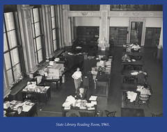 State Library Reading Room, 1961 (State Library of Massachusetts) Tags: bostonmassachusetts massachusettsstatehouse massachusettslegislature statelibraryofmassachusetts