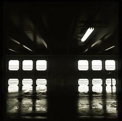 Below Deck (LunaliteSBC) Tags: 6x6 film ferry bay australia slide victoria bronica filmcamera nikkor carferry portphilipbay blackandwhitefilm bronicas2a blackandwhiteslide sorrentotoqueenscliff 6x6slide filmphotographyproject reversalprocessed