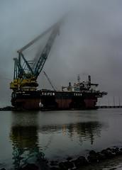 The Sky is the Limit. (Arjan Grendelman) Tags: ship crane eemshaven saipem lightroom44 arjangrendelman zeissbiogon2828mmzm