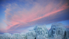 Ice & Fire (JasonCameron) Tags: winter sunset red sky orange cold castles ice fire utah freeze ribbon midway