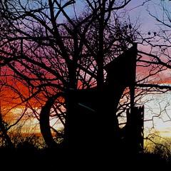Theater Sculpture w Sunset (btusdin) Tags: week27 6116 statuessculptures 7daysofshooting contrastthursday