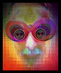 3D LSD Buzz Goggles (chazart7777) Tags: photomanipulation 3d surreal retro lsd psycho psychedelic