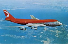 Boeing 747, Canadian Pacific Air Lines (SwellMap) Tags: architecture plane vintage advertising design pc airport 60s fifties aviation postcard jet suburbia style kitsch retro nostalgia chrome americana 50s roadside googie populuxe sixties babyboomer consumer coldwar midcentury spaceage jetset jetage atomicage