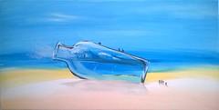 Onda in bottiglia (Artlynow galleria d'arte) Tags: surf mare quadro spiaggia paesaggio tempera artista onda bottiglia pittura dipinto quadroastratto alessandrobicci