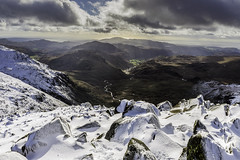 Hard Knott and Harter Fell from Bowfell 10/02/16 (moonsurf) Tags: lake nikon district lakedistrict d600 bowfell