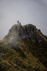 Emptiness (Dark Flash) Tags: mountain sarah montagne switzerland long suisse hiking walk empty climbing stare jonas