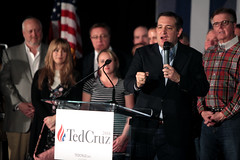 Ted Cruz with supporters (Gage Skidmore) Tags: las vegas party ted building night bill texas senator nevada president heinrich cruz ymca lillie caucus 2016