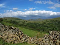 View from the Struggle, Cumbria (nisudapi) Tags: uk cloud landscape view lakes lakedistrict pass hills cumbria stonewall drystonewall windermere struggle ullswater kirkstonepass 2015 kirkstone