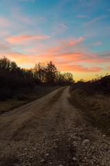 Tramonto (DarioMarulli) Tags: sunset italy nikon strada italia tramonto nuvole giallo rosso abruzzo laquila d3200 spaziaperti nikonclubit