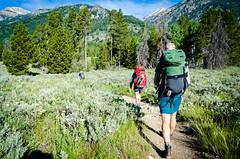 Hiking in the Tetons (HikerDude24) Tags: mountain mountains nature walking rockies outdoors hiking rocky backpacking rockymountains wyoming grandtetons grandteton grandtetonnationalpark granitecanyon