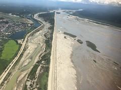 From An Airplane Window Timika Mimika River Tailing Freeport at Kuala kencana sporthall (eriko_ie) Tags: river freeport tailing timika mimika fromanairplanewindow