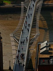 Millennium Bridge, LONDON, UK (BasilFlty - Wayne Kryka) Tags: london thames famousbridges