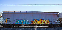 (o texano) Tags: bench graffiti texas houston trains d30 freights erupto nekst a2m erupto327 benching real16