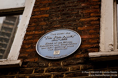 """Tin Pan Alley"" Plaque in Denmark Street, London"