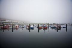 Fisterra Port (miketnorton) Tags: fog port spain ships fisterra