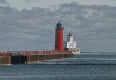 Lake Michigan, Milwaukee Wisconsin (MalaneyStuff) Tags: lighthouse lake wisconsin nikon michigan lakemichigan milwaukee pierhead lakeeffect 55300mm d5100 lakefrontfeb2016