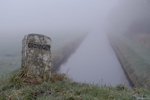 Groningen in the mist