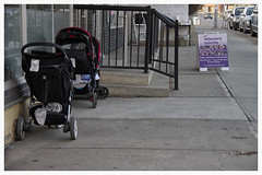 free parking on International Women's Day (Wanderfull1) Tags: calgary sign downtown strollers internationalwomensday calgarywomenscentre
