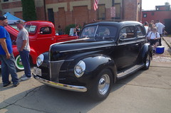 '40 Deluxe (ilgunmkr - Thanks for 4,000,000+ Views) Tags: ford sedan carshow 1940ford forddeluxe 2015 fordv8 amboyillinois fordflatheadv8