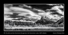 Mt. Rundle and the Fairholme Range from 3rd Vermillion Lake, Banff National Park, Alberta (kgogrady) Tags: trees winter blackandwhite bw canada mountains clouds landscape blackwhite nikon ab alberta infrared banff mountrundle dx banffnationalpark mtrundle mountainlakes canadianrockies vermillionlakes 2016 westerncanada canadianmountains d80 canadianlakes canadianlandscapes cans2s albertalakes fairholmerange mountpeechee mtpeechee albertalandscapes thirdvermillionlake canadianrockieslanscape