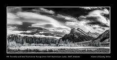 Mt. Rundle and the Fairholme Range from 3rd Vermillion Lake, Banff National Park, Alberta (kgogrady) Tags: trees winter blackandwhite bw canada mountains clouds landscape blackwhite nikon ab alberta infrared banff mountrundle dx banffnationalpark mtrundle mountainlakes canadianrockies vermillionlakes 2016 westerncanada canadianmountains d80 canadianlakes canadianlandscapes cans2s albertalakes fairholmerange mountpeechee mtpeechee albertalandscapes thirdvermillionlake canadianrockieslanscape