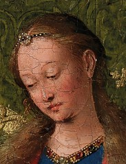 Follower of Jan van Eyck  Virgin and Child Reading, 1433. Painting: Oil on panel, 26.3  19.4 cm. National Gallery of Victoria, Melbourne, Australia.  This painting is also known as the Ince Hall Madonna. It is a copy after van Eycks original, which he (ArtAppreciated) Tags: baby detail art history dutch century painting religious reading babies child jan madonna details fineart jesus mother books blogs virgin bible faves christianity van northern 15th renaissance eyck artblogs tumblr 1430s artoftheday artofdarkness artappreciated artofdarknessco artofdarknessblog date1433