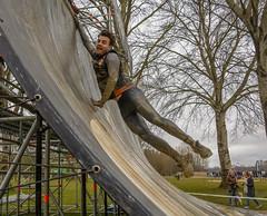leap of faith (stevefge) Tags: people men netherlands sport mud action nederland viking berendonck nederlandvandaag reflectyourworld strongviking