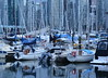 REFLECTIONS OF VANCOUVER,  COAL HARBOR,  BC (vermillion$baby) Tags: burrardinlet coalharbor boat marina orange sea seascape skyline tug vancouver water van stern