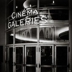 Cinema Galeries (*altglas*) Tags: brussels bw cinema 120 6x6 film monochrome analog zeiss mediumformat square kino neon bruxelles rodinal150 brüssel fomapan100 superikonta leuchtreklame mittelformat 53316 cinemagaleries