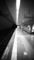 Down in the tube station (blueP739) Tags: bw turkey metro scanner pussy tube perspective platform tunnel olympus istanbul om10 tulip om1 paulweller thejam olympusom om4 om2n om1n om2sp om3ti aragler plustek7200 turkishphotography