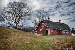 Farmscape (scottnj) Tags: red sky clouds barn rural colorful farm country hill farming nj hills redbarn farmlife sussexcounty 365project tookapic scottnj cy365 scottodonnellphotography reddit365 redditphotoproject