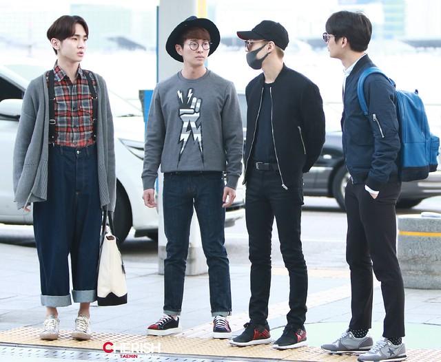 160401 SHINee (Sin Jonghyun) @ Aeropuerto de Incheon {Rumbo a Japón} 25636008554_f2986ffaa2_z