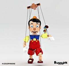 LEGO Ideas Pinocchio - Main Image (buggyirk) Tags: cute brick classic lego adorable disney cricket figure minifig cuteness walt ideas pinocchio marionette jiminy minifigure moc disneys afol pinoke brickbuilt buggyirk jiminyc