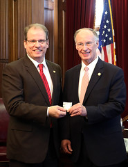 03-09-2016 Rep. Allen Treadaway, Martinez Family and Pages visit Gov. Bentley