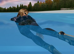 22 (SoakinJo) Tags: highheels wetlook swimminginclothes wetclothes swimmingfullyclothed imvu wetjeans wetdenim