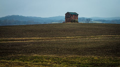 (Rodney Harvey) Tags: house mountain brick abandoned misty fog rural haze jung decay hills missouri carl hop knoll
