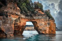 Portal to the Pictured Rocks (zuni48) Tags: michigan greatlakes lakesuperior picturedrocksnationallakeshore geologicalformation petitportal zunikoff