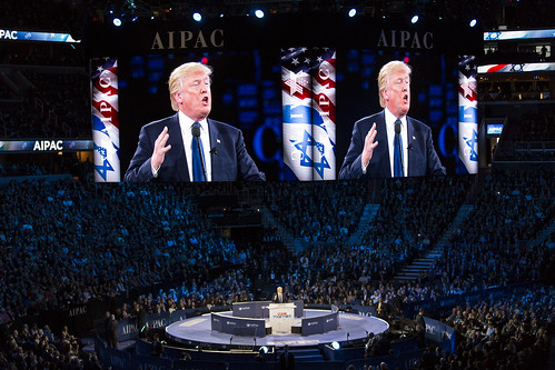From flickr.com: Trump speaking at AIPAC {MID-147061}