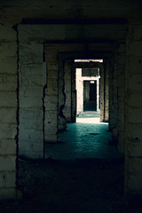Passages (Imthearsonist) Tags: chile santiago canon vanishingpoint dof perspective corridor hallway perspectiva canoneos pasillo corredor vantagepoint fotografa puntodefuga cajondelmaipo embalseelyeso canonreflext3i excampamentominero