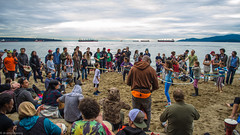 (dcampusanog) Tags: sunset beach vancouver drums drum stanleypark thirdbeach vancouvering drumsfestival