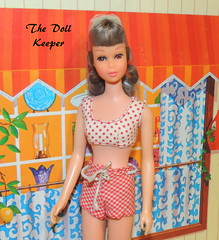 1966 Vintage Straight Leg Brunette Francie (The doll keeper) Tags: vintage mod doll leg 1966 brunette straight swimsuit francie